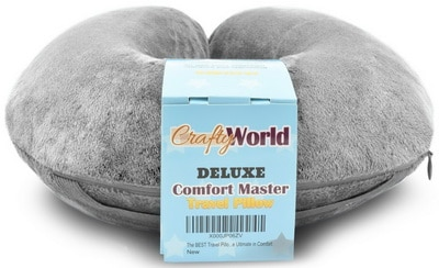 Comfortable Travel Pillow, Get Wrapped in Extreme Comfort with the Comfort Master Neck Pillow, a Memory Foam Pillow that Provides Relief and Support for Travel, Home, Neck Pain
