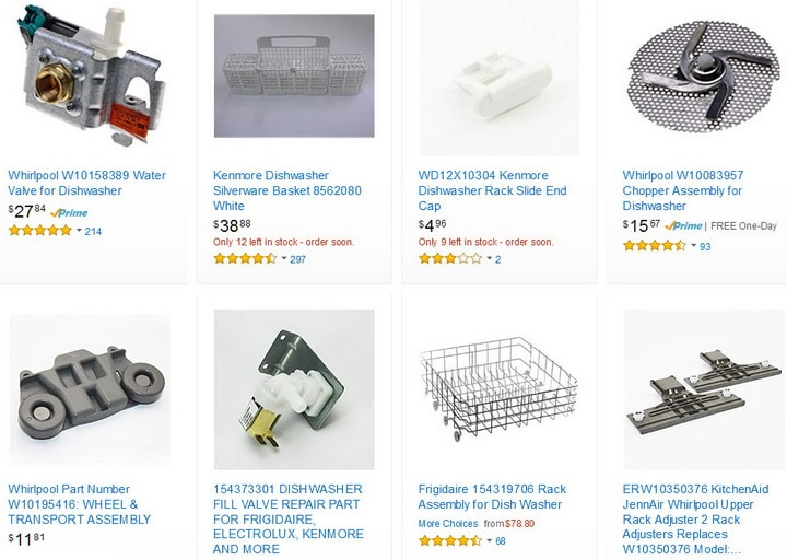 Dishwasher Replacement Parts And Accessories