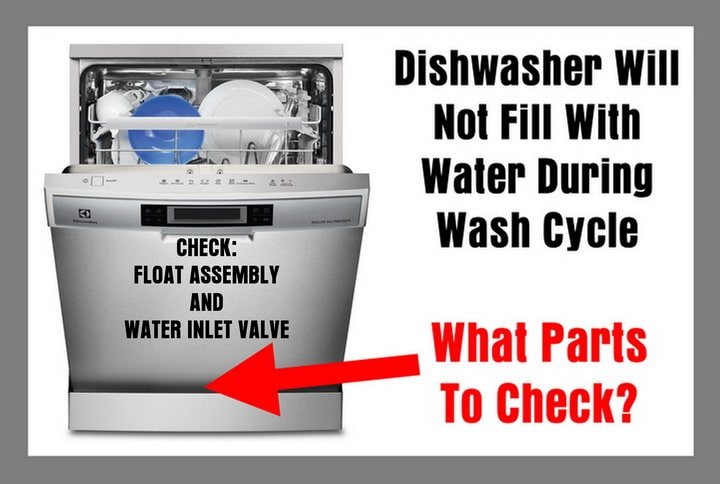 Dishwasher Will Not Fill With Water During Wash Cycle - What Parts To Check
