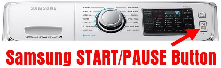 Samsung Washing Machine Control Panel - START PAUSE BUTTON