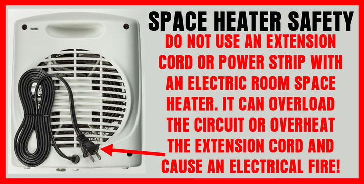 Can I Use An Extension Cord With A Space Heater