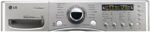 LG washing machine front control panel