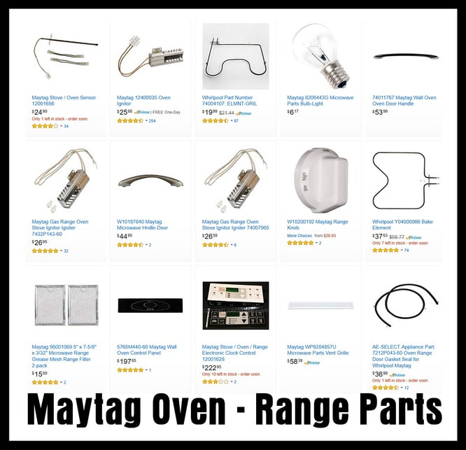 Maytag Oven Error Codes - Stove Range Fault Codes - Causes