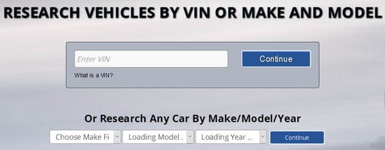 Research Vehicles By VIN or Make and Model