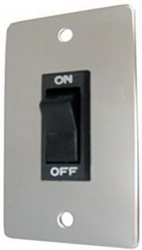 Rocker ON OFF Wall Switch with Chrome Plate