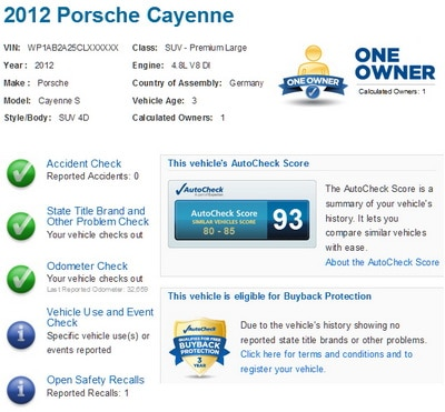 Vehicle History Report Free >> Sample Autocheck Report Experian Ebay Auto Check Not A