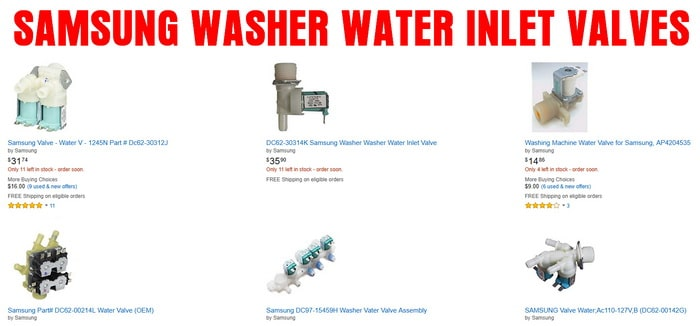 SAMSUNG WASHER WATER INLET VALVES
