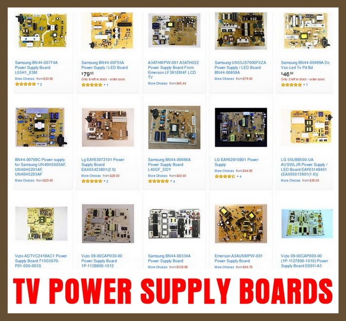 TV Power Supply Boards - Television Replacement Parts
