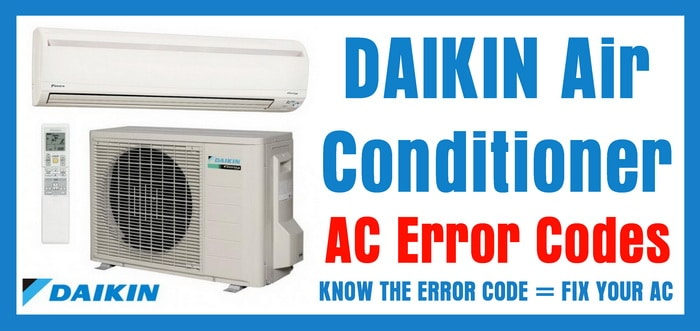 DAIKIN Air Conditioner AC Error Codes