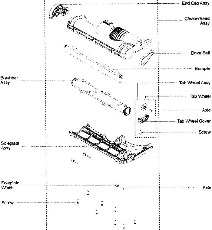 Dyson Vacuum Replacement Parts And Accessories Belt Brush Roller Hose Switch on Dyson Dc39 Parts Diagram