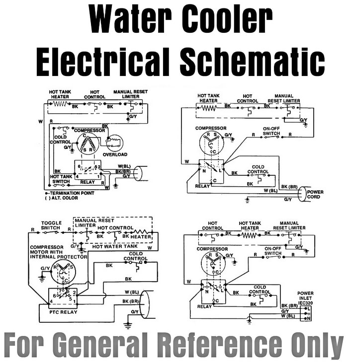 water cooler electrical schematic - for general reference