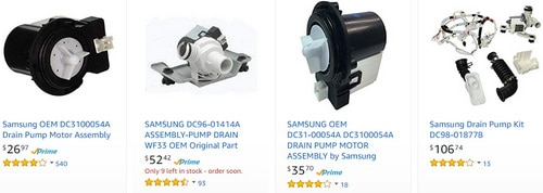 Samsung Washing Machine Drain Pumps