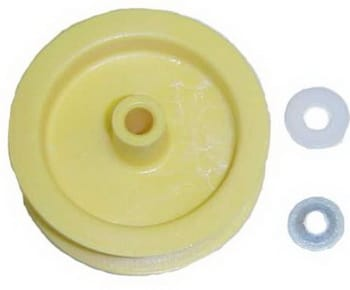 Clothes dryer idler pulley