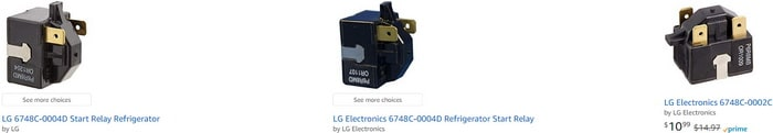 LG Refrigerator Compressor Start Relay Replacements