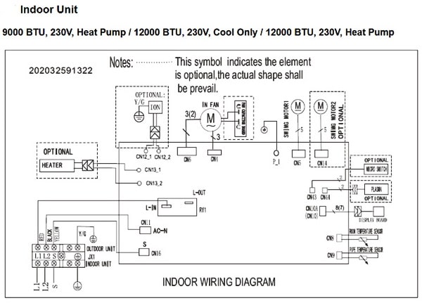 Pioneer Air Conditioner Inverter Ductless Wall Mount Mini Split System Indoor Wiring Diagram pioneer air conditioner ac mini split error codes and samsung air conditioner wiring diagram at gsmx.co