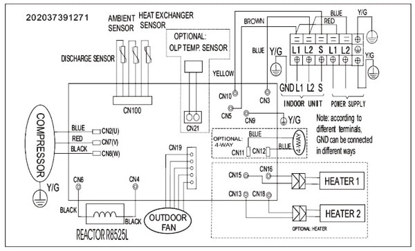 Pioneer Air Conditioner Inverter Ductless Wall Mount Mini Split System Outdoor Wiring Diagram red dot air conditioner wiring diagram air handler wiring diagram  at gsmx.co