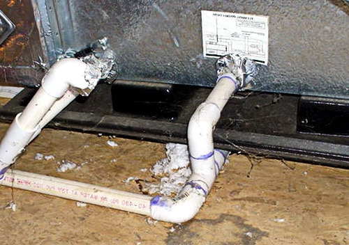 home ac drain lines