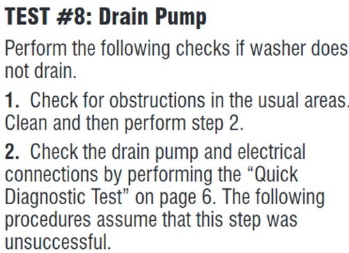 Whirlpool Washer Drain Pump Test 1