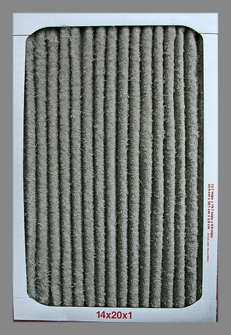 Dirty Home Air Intake Filter