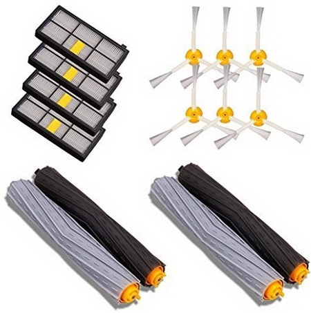 14 PCS Accessories for iRobot Roomba 880 860 870 871 980 990 Replenishment Parts Spare Brushes Kit