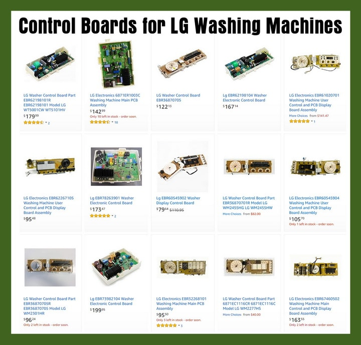 LG Washing Machine Control Boards To Fix Error Code CE