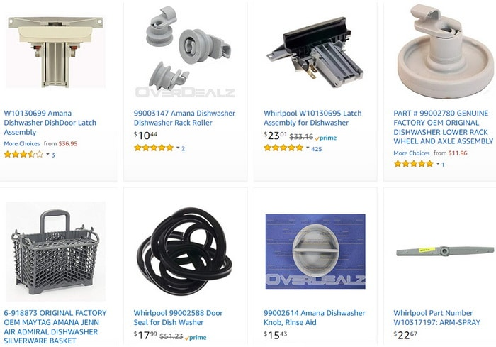 amana dishwasher parts