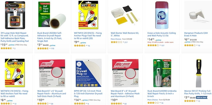 Fix Wall and Drywall Holes - Spackle - Plaster - Tools - Fabric