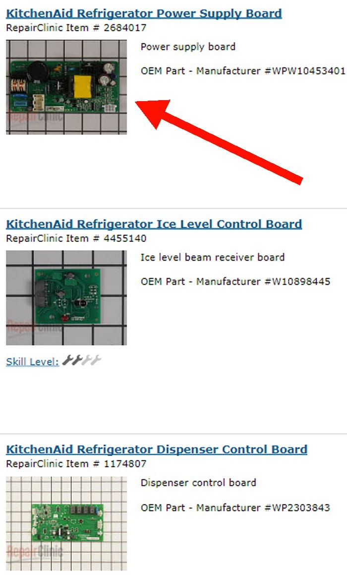 KitchenAid Refrigerator Power Boards, Circuit Boards & Timer Parts