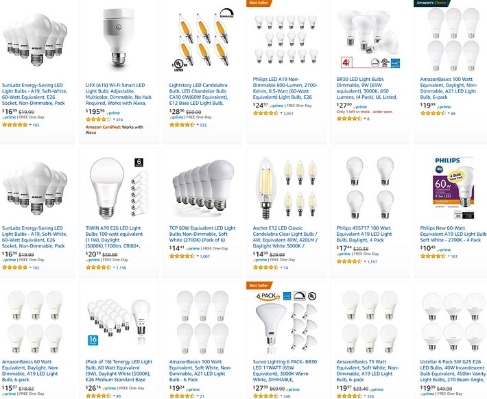 LED light bulbs in bulk