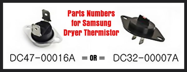 Samsung Dryer Thermistor DC32-00007A and Thermostat DC47-00016A