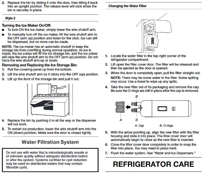 Whirlpool Gold Series Refrigerator Use Guide 11
