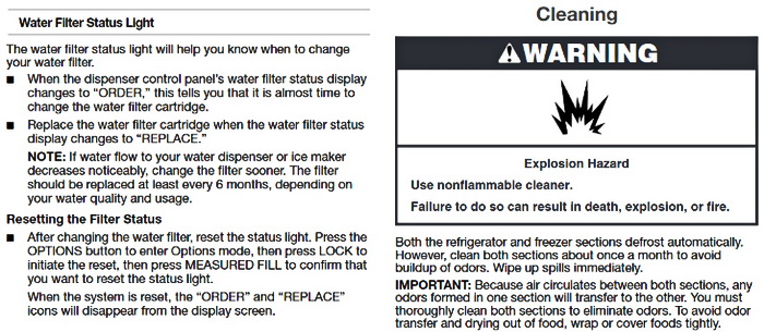 Whirlpool Gold Series Refrigerator Use Guide 12