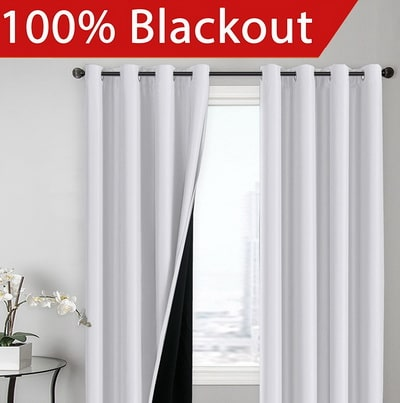 BLACKOUT Curtains - Thermal Heat and Light Insulated Energy Efficiency Window Drapes