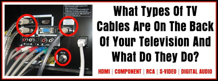 Different types of TV wires and cables