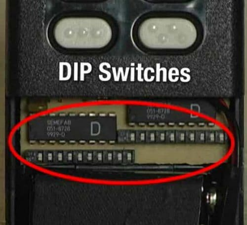 Dip Switches - Garage Door Remote Control