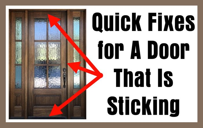 Quick Fixes for A Door That Is Sticking  sc 1 st  RemoveandReplace.com : door sticking - pezcame.com