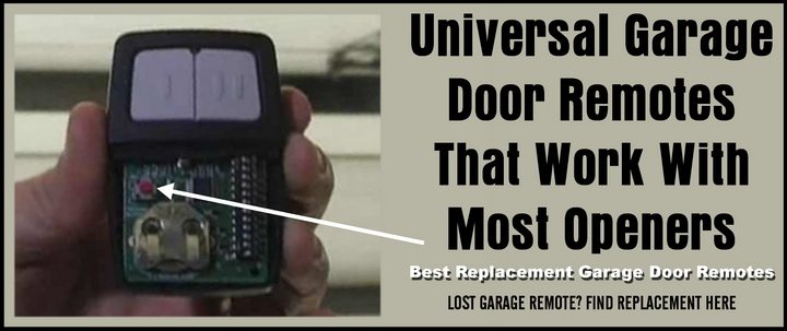 Universal Garage Door Remotes That Work With Most Openers - Best Replacement Garage Door Remotes