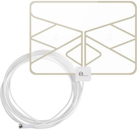 1byone Window Antenna 35 Miles Super Thin HDTV Antenna