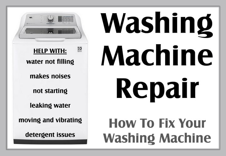 Washing Machine Repair - How To Fix Your Washing Machine DIY