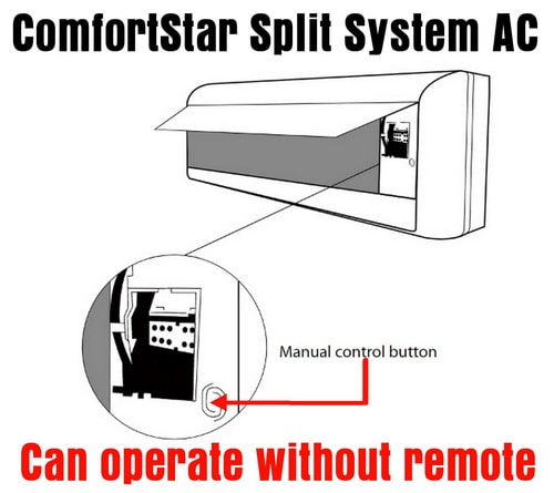 ComfortStar Split System AC - Can operate without remote