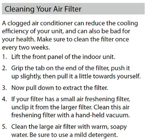 ComfortStar Split System AC - How To Clean Air Filter 1