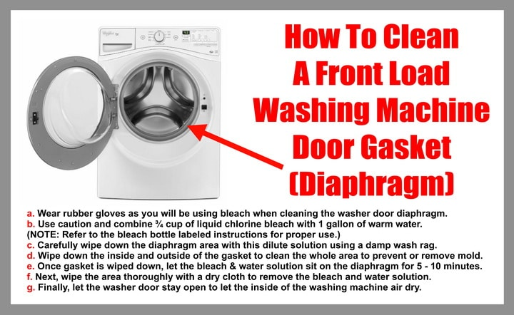 How To Clean The Door Gasket Diaphragm On A Front Load