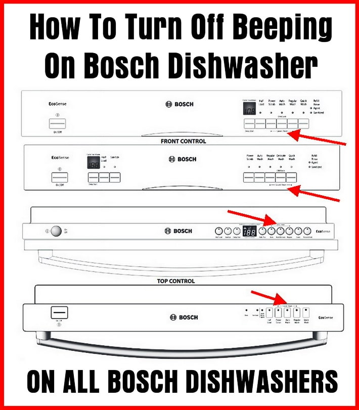 How To Turn Off Beeping On Bosch Dishwasher When Cycle Completes