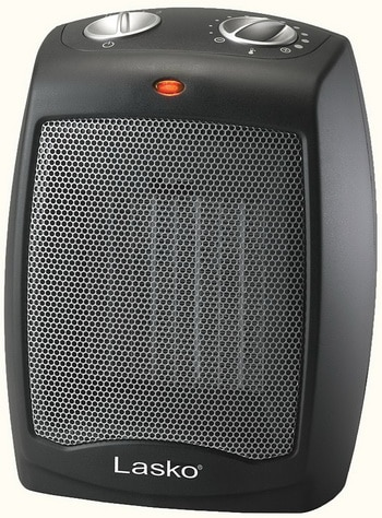 Lasko CD09250 Ceramic Heater with Adjustable Thermostat