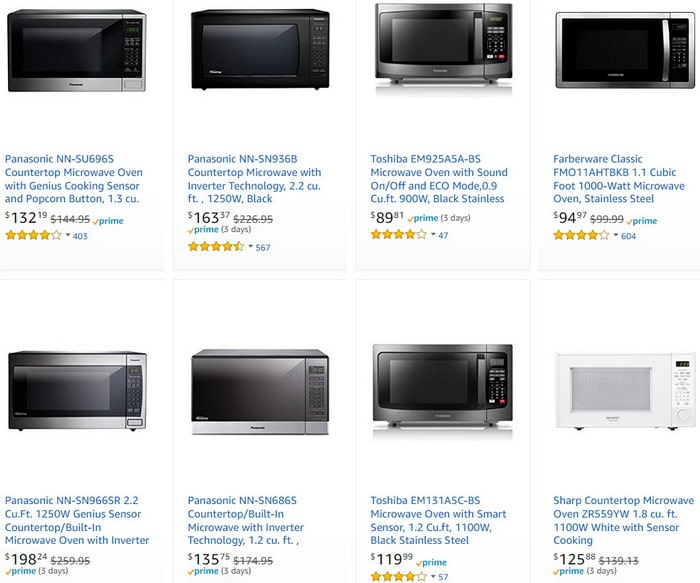 Microwave Ovens Home Kitchen