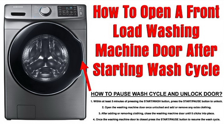 How To Open A Front Load Washing Machine Door After Starting ... Kenmore Ice Maker Imb Schematic Diagram on