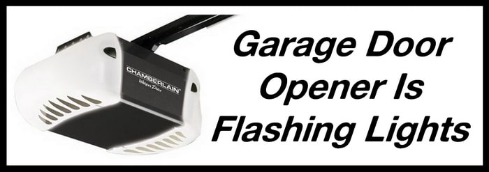 Garage Door Opener Flashing LED Light - Door Not Moving on