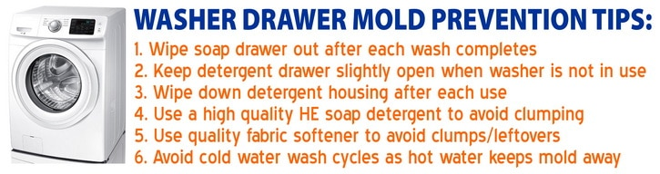 Washer Drawer Mold Prevention TIPS