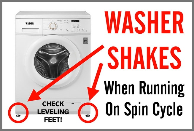 Washer Moves Around When Running On Spin Cycle