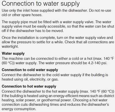 Dishwasher Water Connect